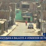 El Porvenir: Asesinan a balazos a vendedor de frutas