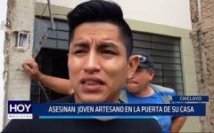 Chiclayo: Asesinan joven artesano en la puerta de su casa