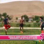 Novia de André Carrillo sorprende dominando con destreza el balón