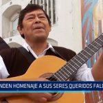 Rinden homenaje a sus seres queridos fallecidos en Cementerio Miraflores