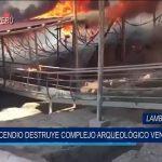 Chiclayo: Incendio destruye complejo arqueológico Ventarrón