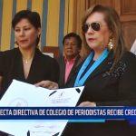 Electa directiva de Colegio de Periodistas recibe credenciales