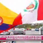 Nuestros hermanos colombianos apoyan a nuestra selección en Wellington