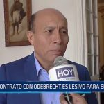 Contrato con Odebrecht es lesivo para el estado