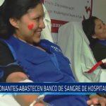 Donantes abastecen banco de sangre del Hospital Regional