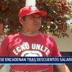 Chimbote: Se encadenan tras descuentos salariales