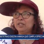 Chiclayo: Obstetras exigen a MINSA que cumpla ofrecimientos