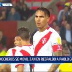 Mocheros se movilizaron en respaldo a Paolo Guerrero
