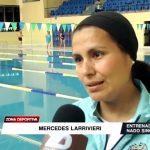 Entrenadora Larrivieri enamorada del nado sincronizado