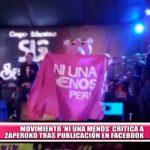 """Nacional: Movimiento """"Ni una menos' critica a Zaperoko tras foto en Facebook"""