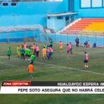 Fútbol: Declaraciones del DT. Hualgayoc José Soto