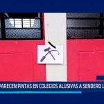 Piura: Aparecen pintas en colegios alusivas a sendero luminoso