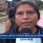 Iquitos: Queman llantas y exigen obras de alcantarillado