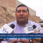 Huanchaco: Se consiguió dos puentes para quebrada El León
