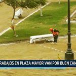Trabajos en Plaza Mayor van por buen camino