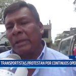 Piura: Transportistas protestan por continuos operativos