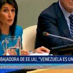 """Embajadora de EE.UU. """"Venezuela es una amenaza"""""""