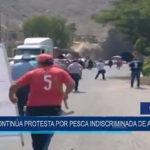 Chimbote: Continúa protesta por pesca indiscriminada de anchoveta
