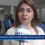 Trujillo: Danmificados se inscriben para bono de S/. 500 soles