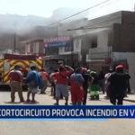 Trujillo: Cortocircuito provoca incendio en vivienda