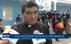 Trujillo: Escolares escenifican visita del Papa Francisco