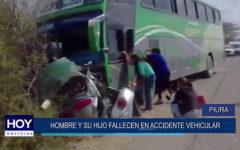Piura: Hombre y su hijo fallecen en accidente vehicular