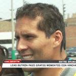 Leao Butrón pasó gratos momentos con hinchas