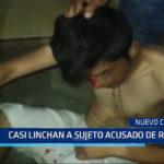 Chimbote: Casi linchan a sujeto acusado de robo