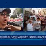 Multitudinaria marcha de protesta en Trujillo tras el indulto de PPK a Alberto Fujimori