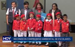 Trujillo: Recocen compromiso ambiental de escolares