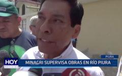 PIURA: MINAGRI supervisa obras en río Piura