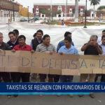 Trujillo: Taxistas se reúnen con funcionarios de la MPT