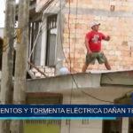 Iquitos: Vientos y tormentas eléctricas dañan techos de varias viviendas