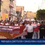 Chiclayo: Piden nueva constitución y convocatoria a elecciones generales