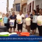 Chiclayo: Mala ejecución de obras origina falta de agua en San José y Ferreñafe