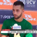 Matheo Amed delantero argentino jugarará en la UCV