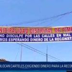 Chiclayo: Colocan carteles exigiendo dinero para la reconstrucción