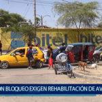 Piura: Con bloqueo exigen rehabilitación de Av. Sullana