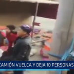 Chimbote: Camión vuelca y deja 10 personas heridas