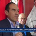 Trujillo: Colegio de periodistas inaugura campo deportivo
