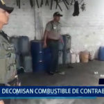 Piura: Decomisan combustible de contrabando