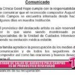 Nacional: Estado de salud de Augusto Polo campos es de pronóstico reservado