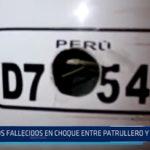 Tumbes: Dos fallecidos en choque entre patrullero y automóvil