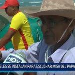 Huanchaco: Fieles se instalan para escuchar misa del Papa Francisco