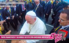 Nacional: Papa francisco y su hermoso gesto con mujer invidente de 98 años