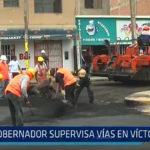 Trujillo: Gobernador supervisa vías en Víctor Larco