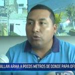 Trujillo: Hallan arma a pocos metros de donde el Papa oficiará misa