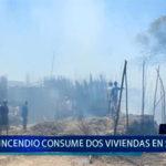 Piura: Incendio consume 2 viviendas en Catacaos
