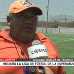 Se dará inicio a la liga de fútbol de la Esperanza