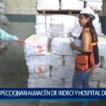 Piura: Congresista  inspecciona almacén de Indeci  y hospital de campaña